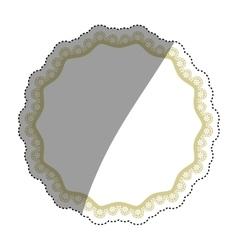 Decorative circle emblem vector image vector image