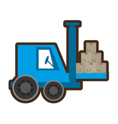 delivery forklift boxes logistic vector image