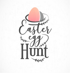 Easter egg hunt greeting card design element vector