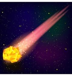 Falling orange meteor vector