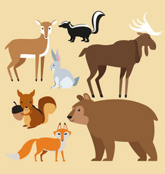 forest animals cartoon vector image