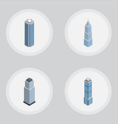 Isometric construction set of exterior tower vector