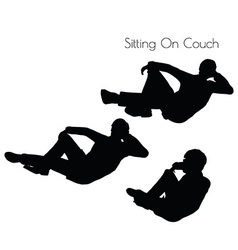 man in Sitting Pose On Couch pose vector image vector image
