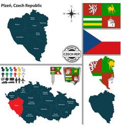 map of plzen czech republic vector image
