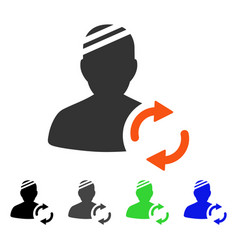 Refresh patient flat icon vector