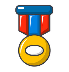 Sport medal icon cartoon style vector
