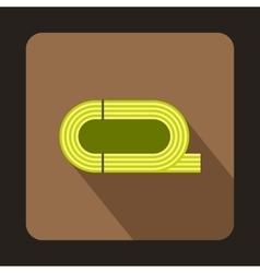 Stadium athletics icon flat style vector