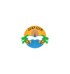 surfing logo vector image