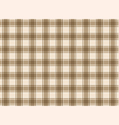 Tartan plaid brown vector