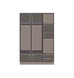 wardrobe closet clothes room cartoon interior vector image