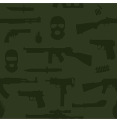Weapon seamless pattern vector image