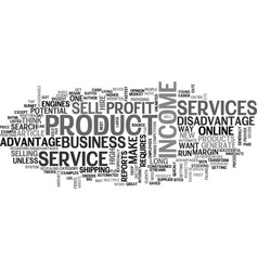 what should i sell on line text word cloud concept vector image vector image