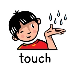 Touch sense icon vector