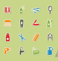 Personal care icon set vector