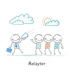 Relayter tells people about product vector
