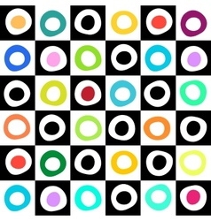Black white and color mosaic background vector