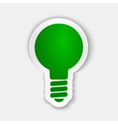 Green light Paper Cuttings Design element vector image