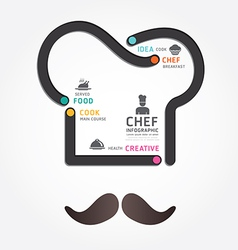 Infographics food design diagram line vector
