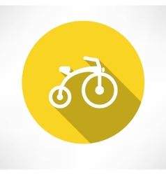 Child bike flat vector