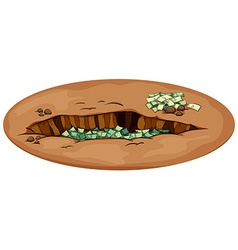 Money in the pit vector