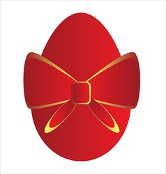 Red easter egg vector