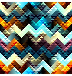 Pattern in aztecs style on chevron background vector