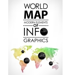 World map card vector