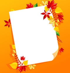 leaf white blank vector image