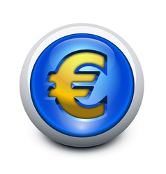 Glassy button euro vector