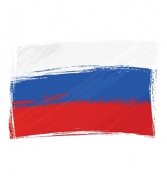 grunge Russia flag vector image