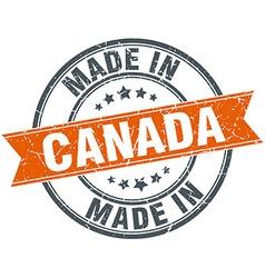 Canada orange grunge ribbon stamp on white vector image