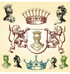 heraldry sketches vector image