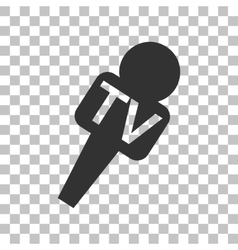 Tv microphone sign  dark gray icon on vector