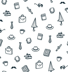 Gentlemans lunch time pattern vector
