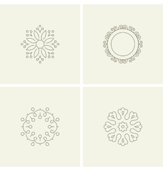 Abstract flower elements vector image vector image