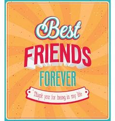 Best friends forever typographic design vector