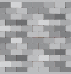 Brick wall stone in grey color background vector