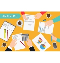 Business analytics and financial audit vector