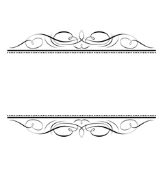 calligraphy vignette ornamente vector image vector image