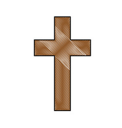 christian cross symbol vector image