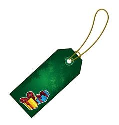 christmas present cartoon gift tag vector image vector image