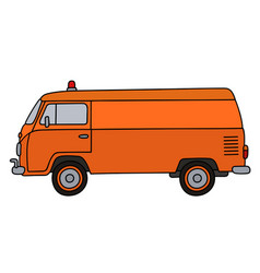classic service minivan vector image vector image