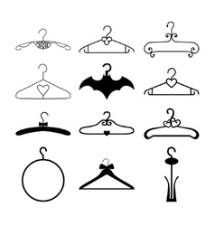 Clothes hanger collection vector