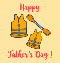 Collection happy father day style design vector