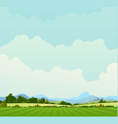 country landscape background vector image vector image