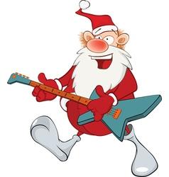 Cute Santa Claus Jazz Guitarist vector image vector image