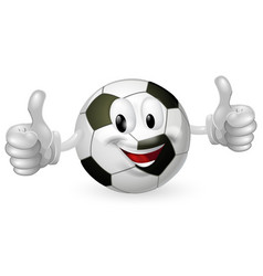 Football ball mascot vector