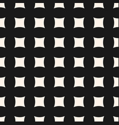 geometric seamless pattern with curved square vector image vector image