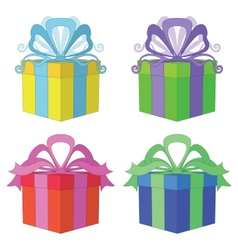 Gift box square set vector
