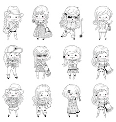 Girls vector image vector image